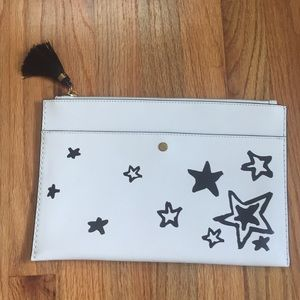 J.Crew large envelope clutch/pouch in stars